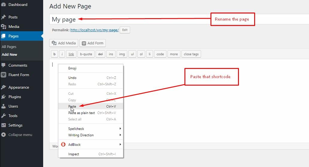 how to create a form with WP Fluent Form WordPress Plugin WPManageNinja