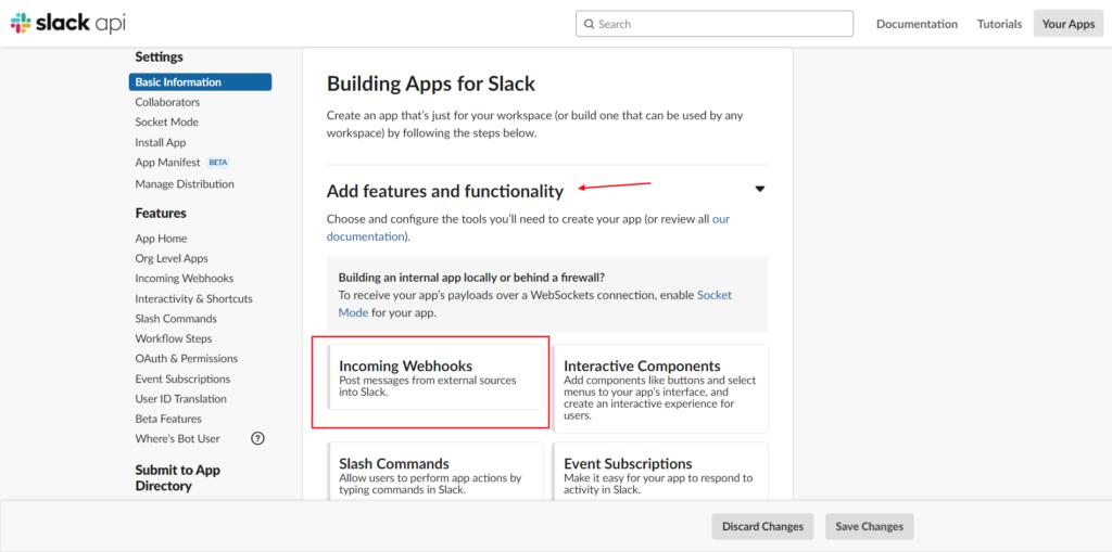 Slack Integration - Webhooks setup - Fluent Forms.