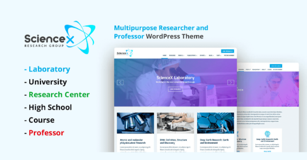 Create An Amazing Website with Science-X WordPress Education Research Theme