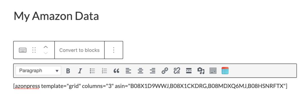 Grid Shortcode - Azonpress