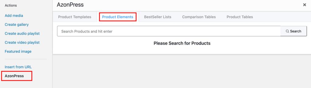 Select Product Elements - Azonpress