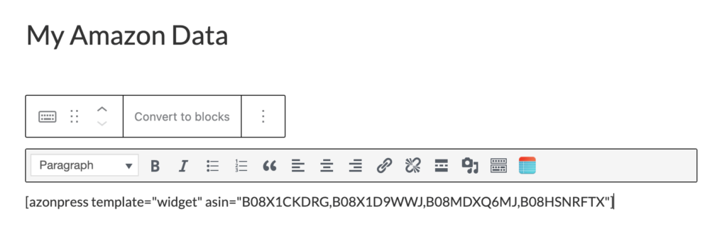 Widget Template Shortcode - Azonpress