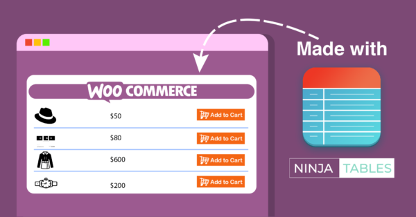 How to Create a Woocommerce Product Table