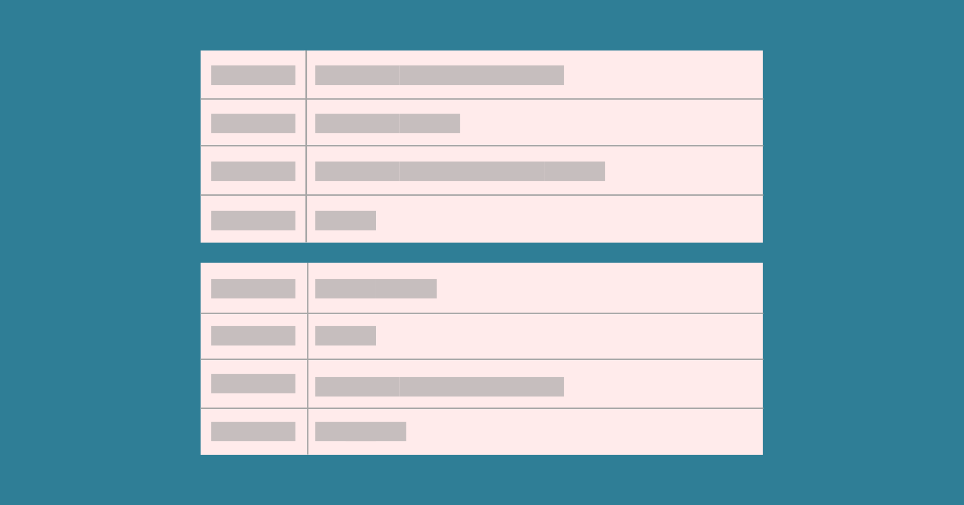 stackable tables in WordPress