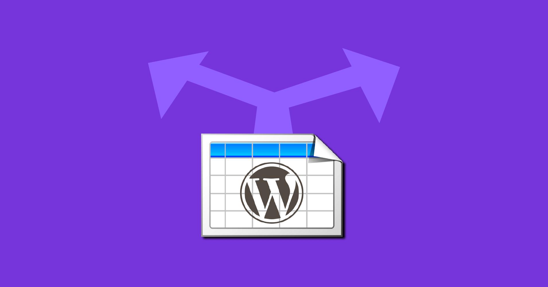 TablePress alternative table plugins
