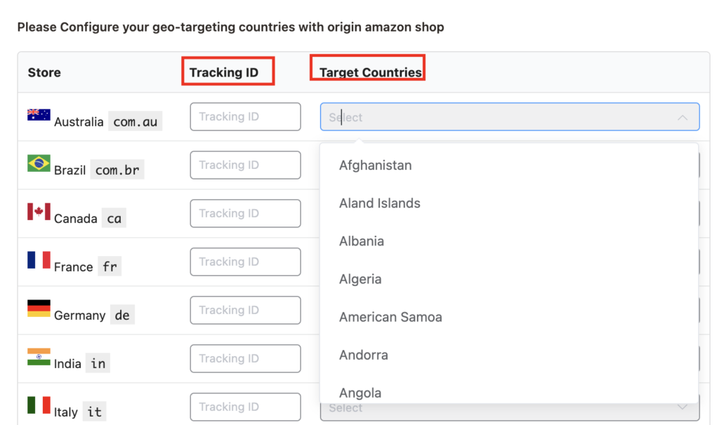 Azonpress-Target-Countries