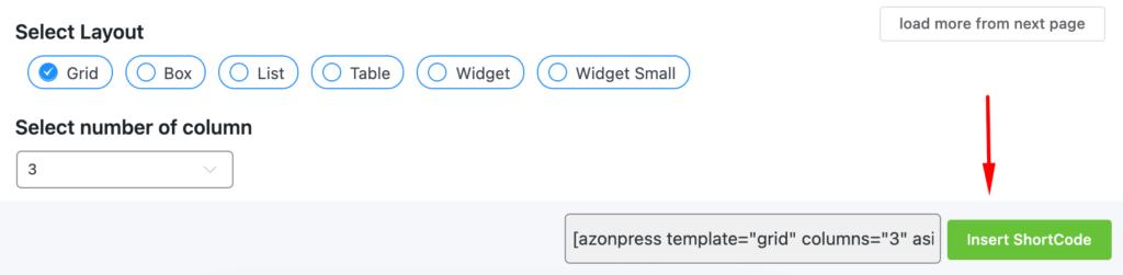 Azonpress-Insert-Shortcode