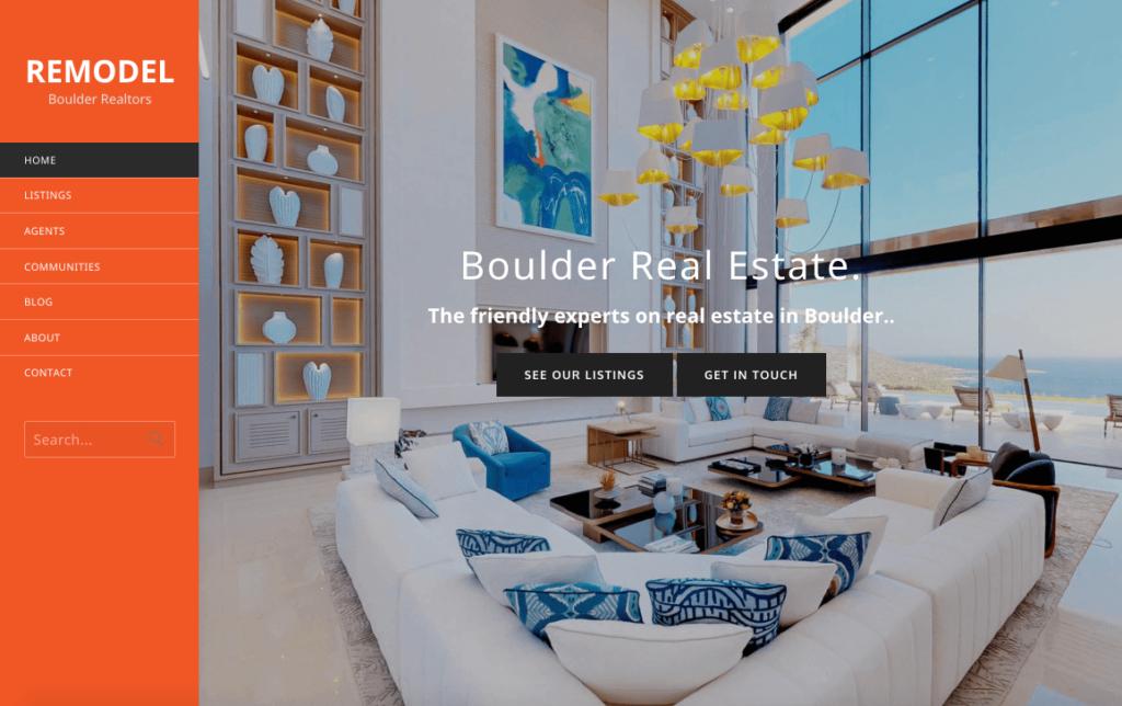 theme builder, boulder real estate theme