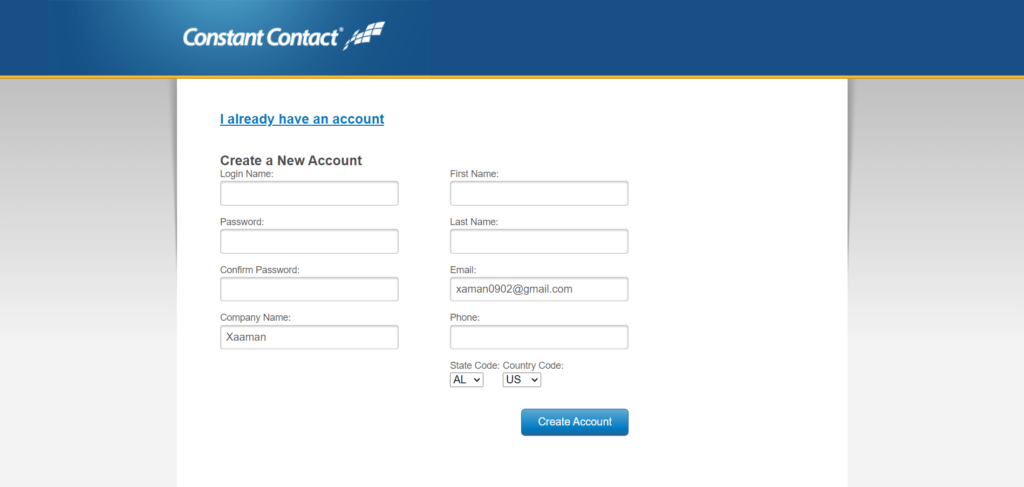 Fluent forms Constant Contact get API