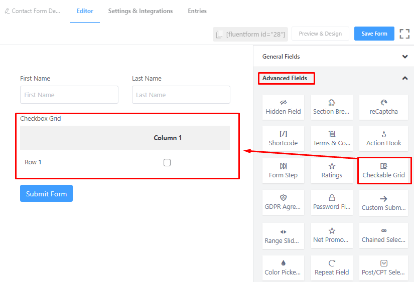 Checkable grid option for Fluent Forms.png