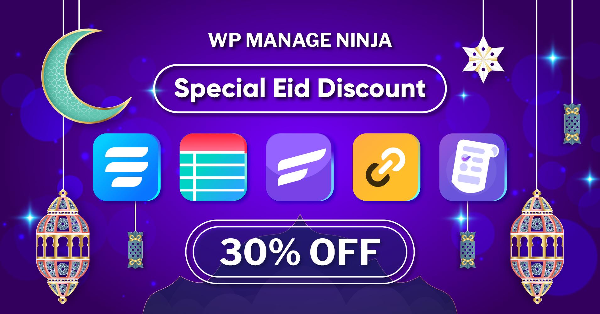 WPManageNinja Eid Special Discount
