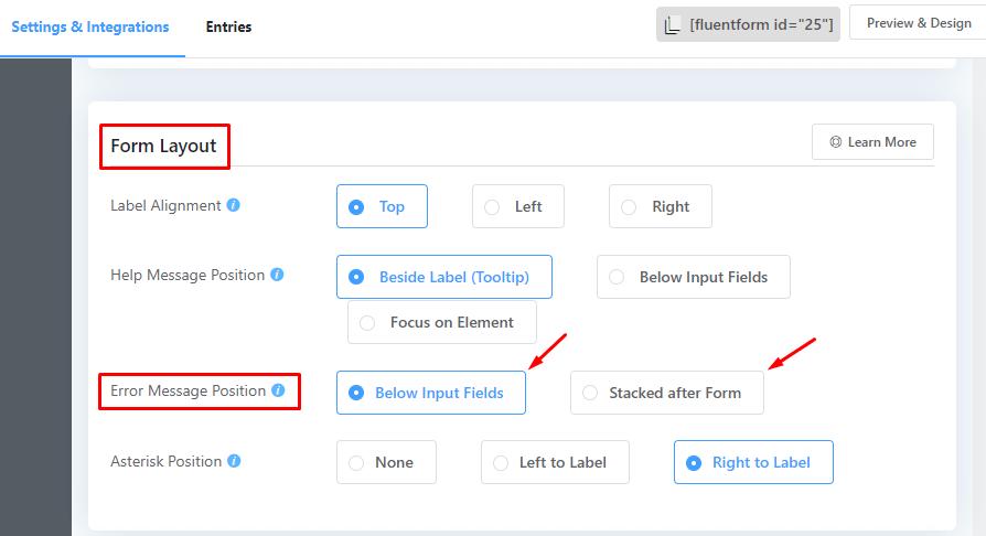Fluent Form input field error message placement.png