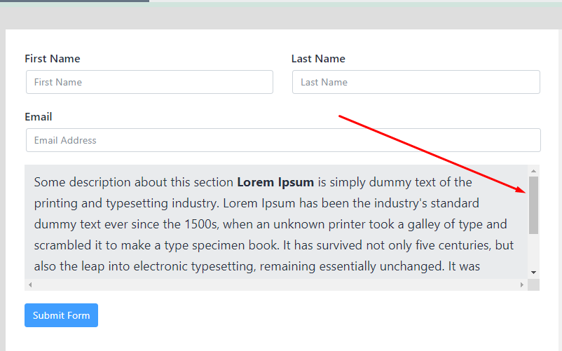 Ready class for a scrollbar in Fluent Forms.png