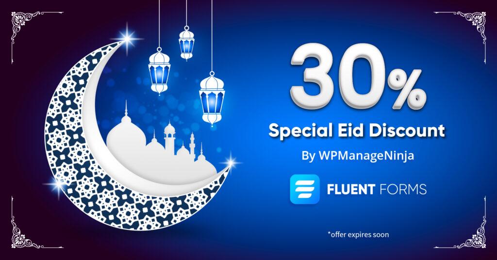 Fluent Forms - eid special discount