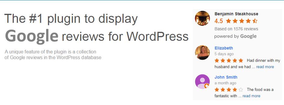 Free reviews plugin Google reviews widget