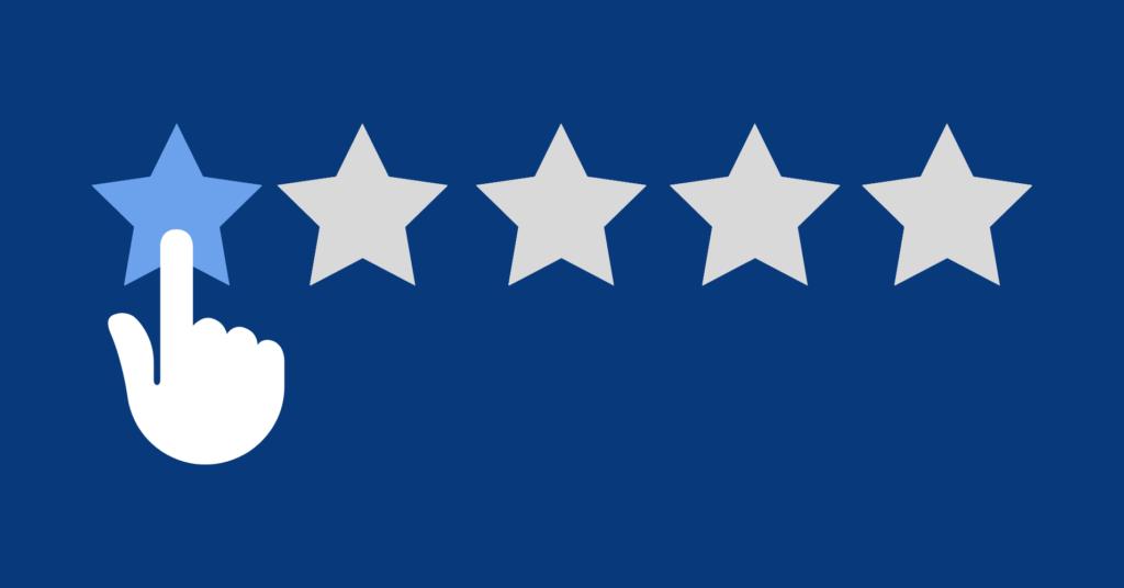 5-star online reviews