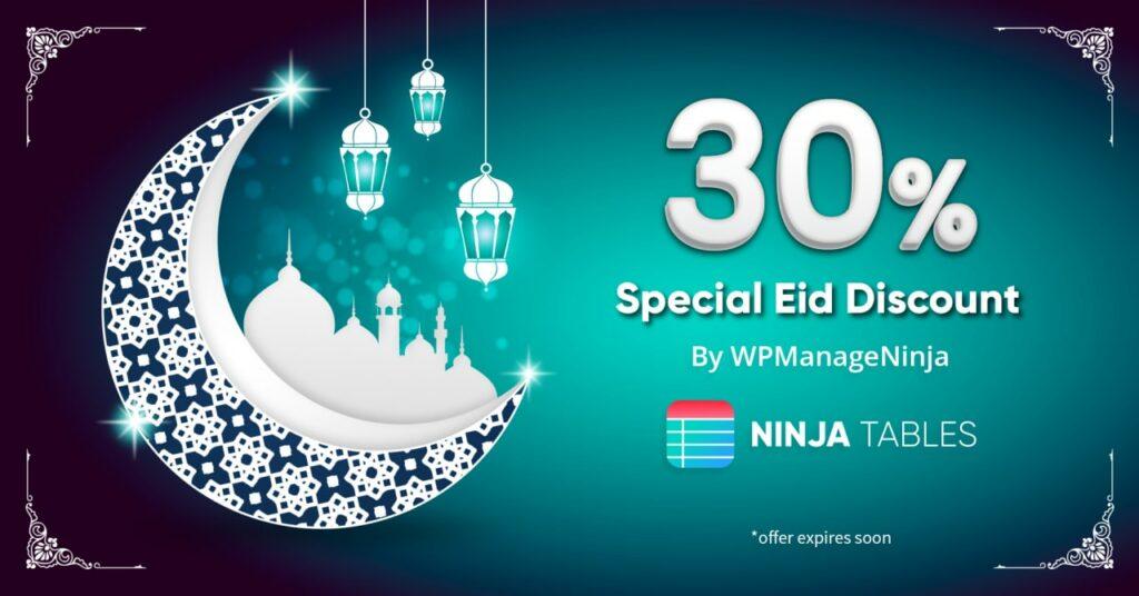 Ninja Tables eid discount 30% 2021