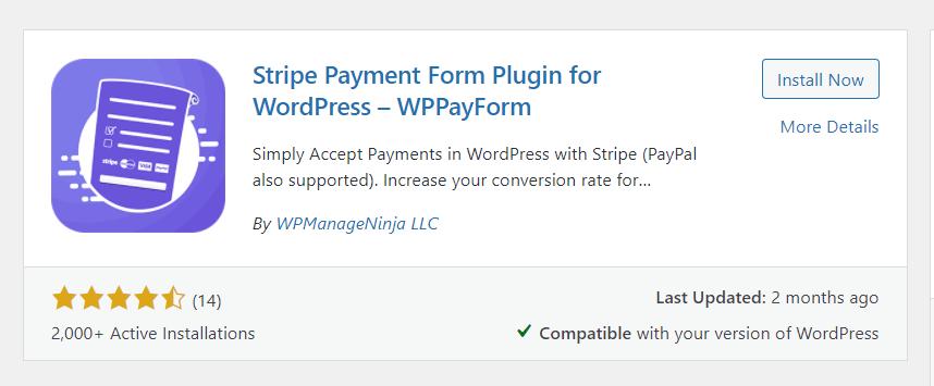 Install Stripe Payment Plugin