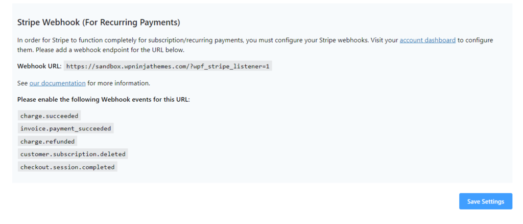 Stripe Webhook for Recurring Payments