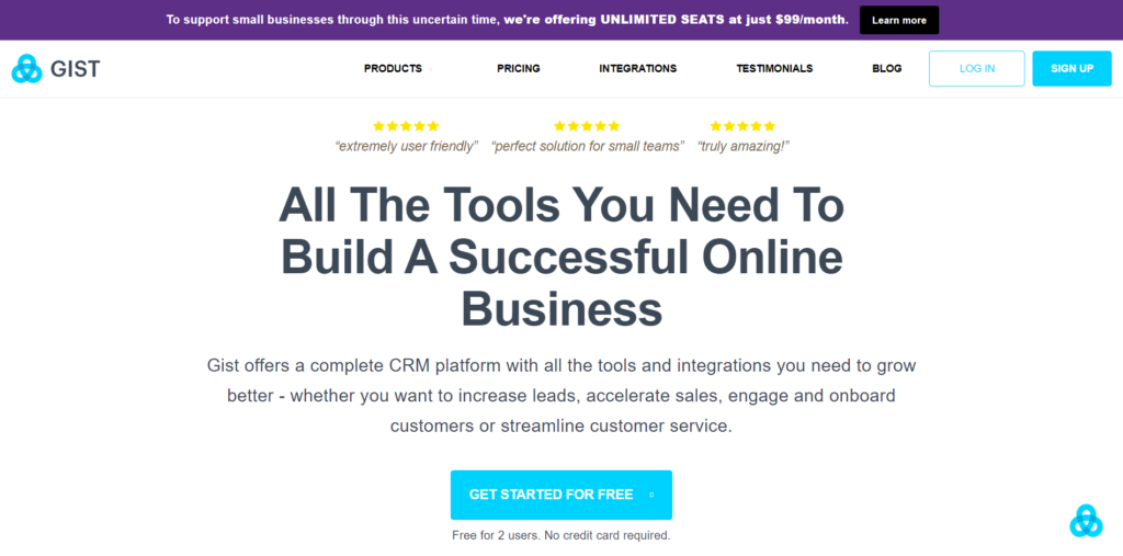 Gist Email Marketing Software
