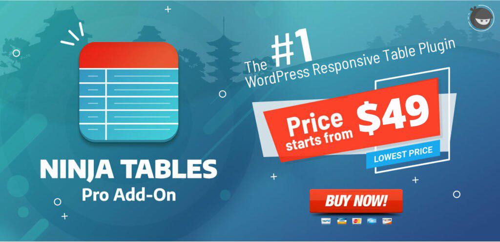 ninja table wordpress best responsive table plugin