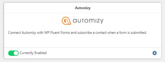 Automizy, integration, WordPress