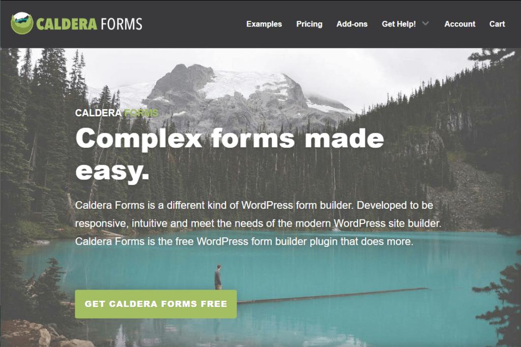 Caldera Forms - Fluent Forms alternative