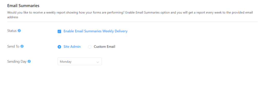 Email Summary Notification - Fluent Forms