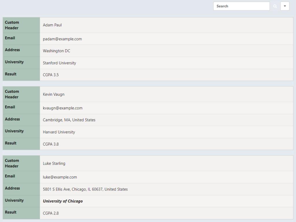 WordPress table responsive mode