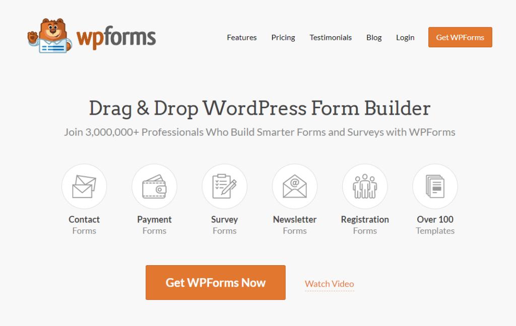 WPForms - online survey tool