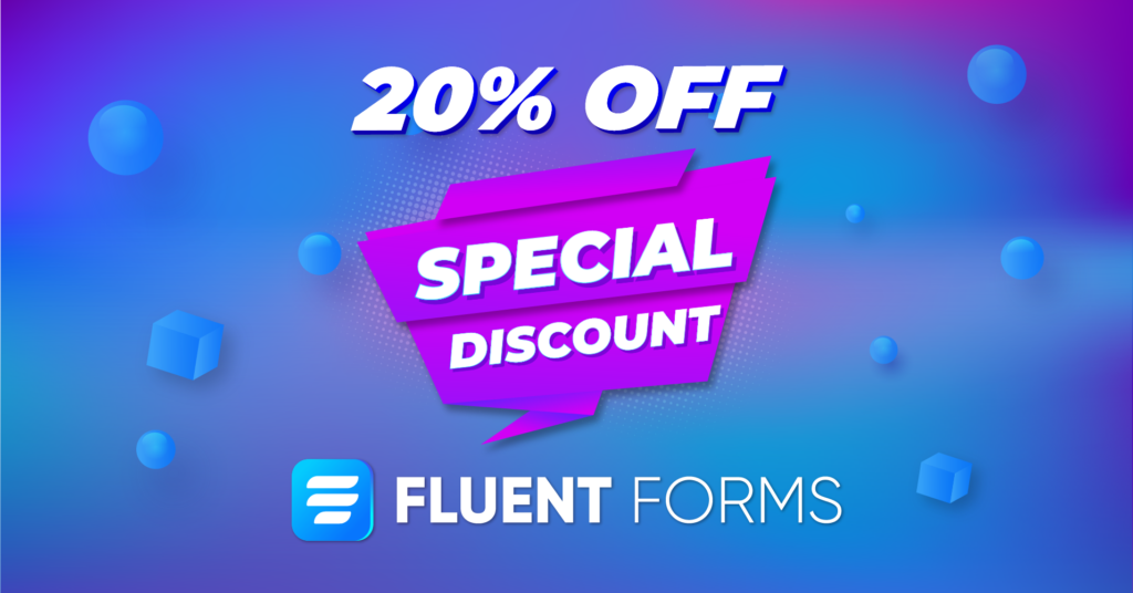 Fluent Forms - special discount
