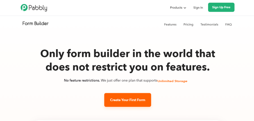 Pabbly form builder for survey