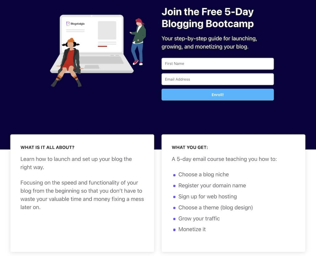 Simple-Affiliate Landing Page Example