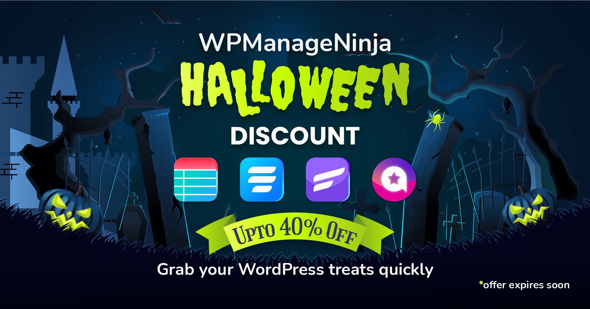 WPManageNinja Halloween Discount - WordPress discount