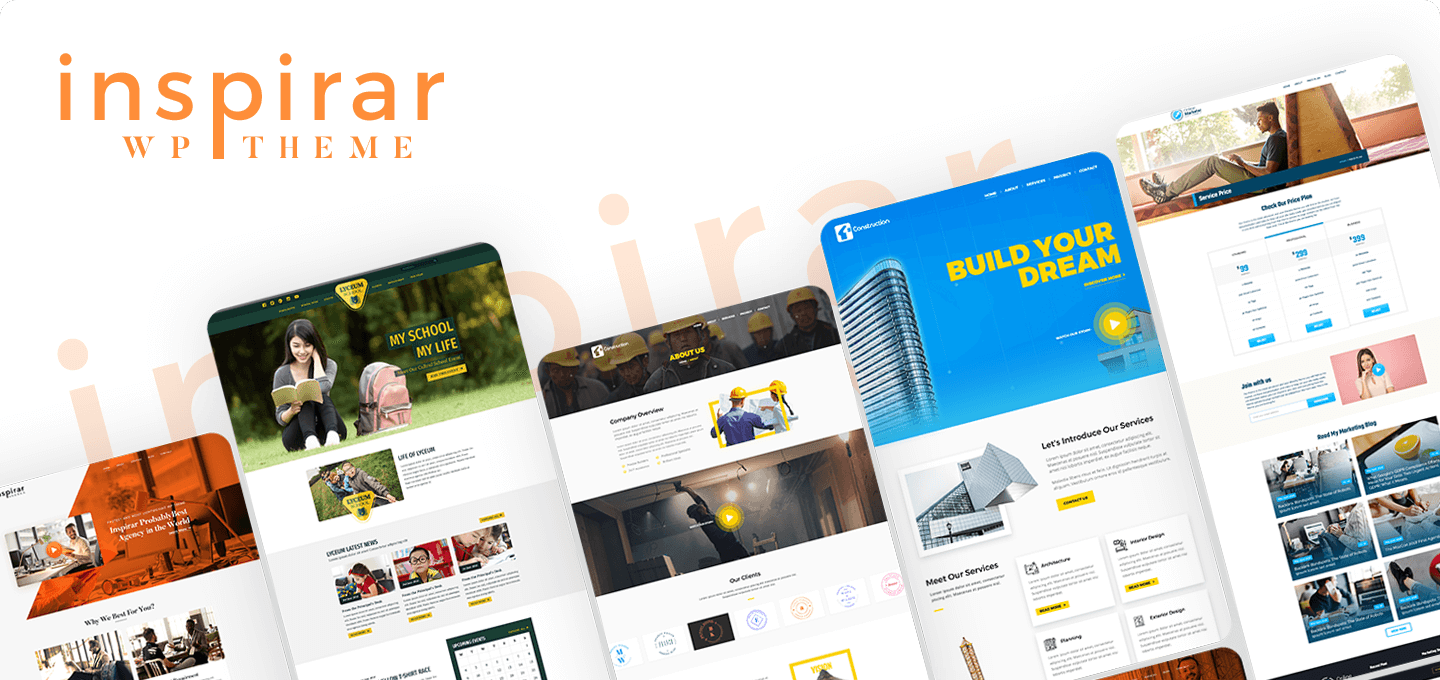 Inspirar Pro – Multipurpose WordPress Theme for Unlimited Website