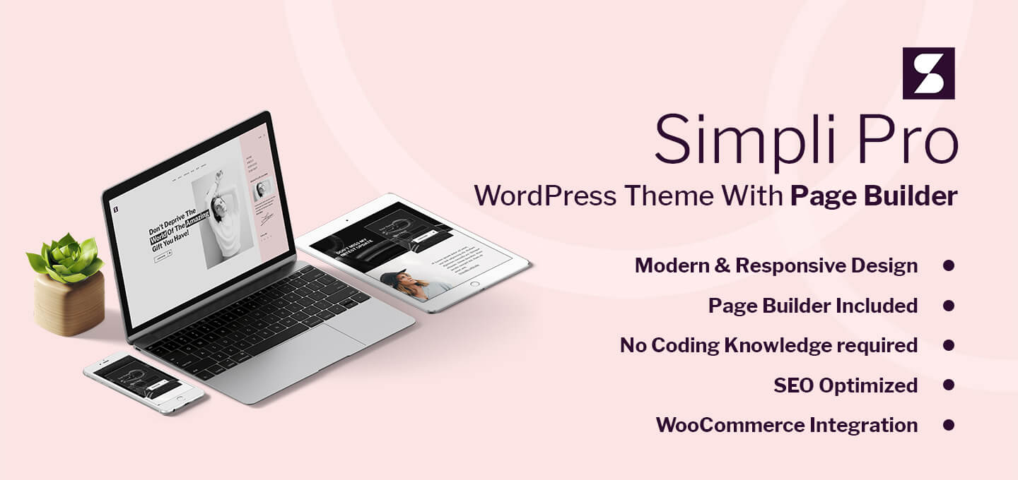 Simpli Pro WooCommerce & Blogging WordPress Theme For Women
