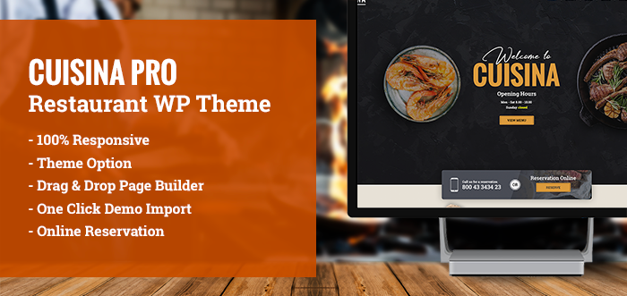 "<span itemprop=""name"">Cuisina Pro – Restaurant WordPress Theme</span>"